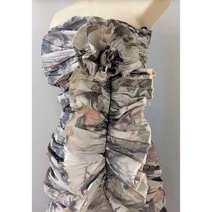 All Saints Dresses - ALL SAINTS SPITALFIELDS Raw Frayed Ruffled Dress